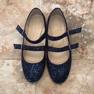 J. Crew flat glitter shoes